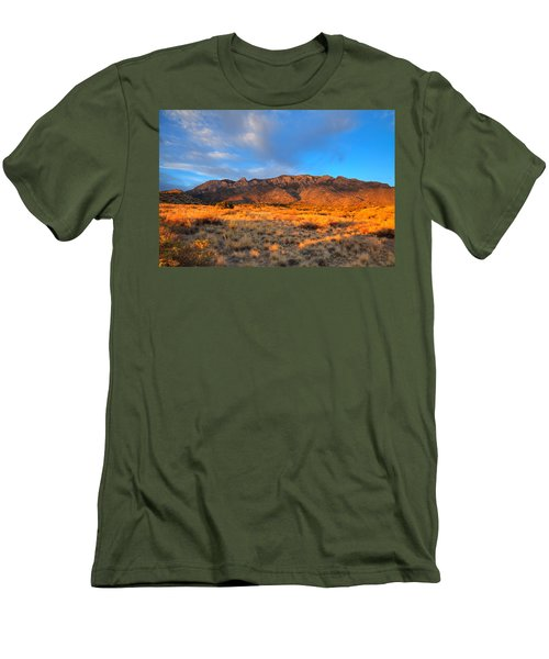 Sandia Crest Sunset Men's T-Shirt (Athletic Fit)