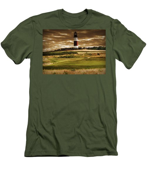 Sankaty Head Lighthouse In Nantucket Men's T-Shirt (Athletic Fit)
