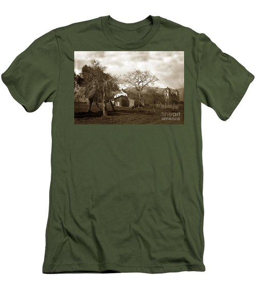 Santa Barbara Mission California Circa 1890 Men's T-Shirt (Athletic Fit)