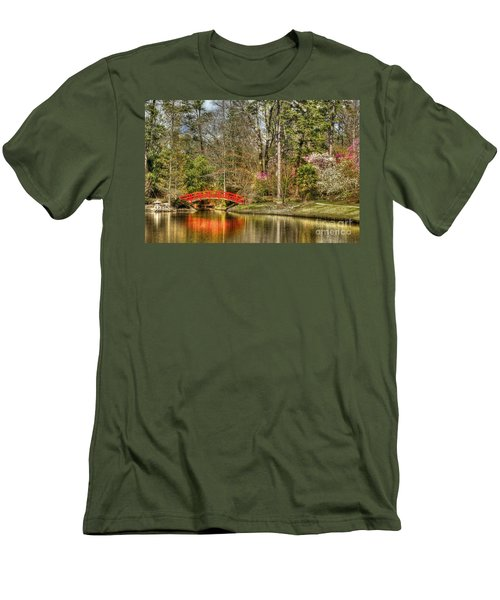 Sarah P. Duke Gardens Men's T-Shirt (Slim Fit) by Benanne Stiens