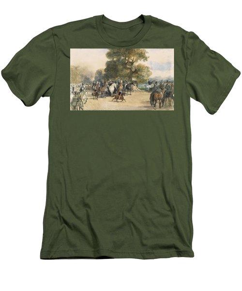 Scene In Hyde Park Men's T-Shirt (Slim Fit) by Eugene-Louis Lami