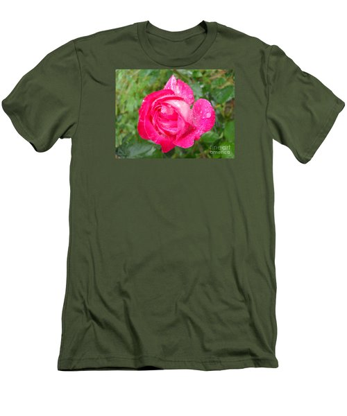 Men's T-Shirt (Slim Fit) featuring the photograph Scented Rose by Ramona Matei