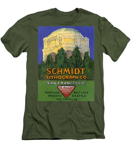Schmidt Lithograph  Men's T-Shirt (Slim Fit) by Cathy Anderson