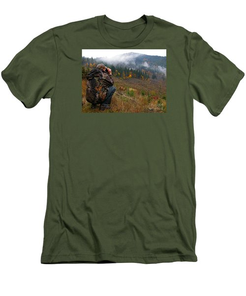 Men's T-Shirt (Slim Fit) featuring the photograph Scouting by Nick  Boren