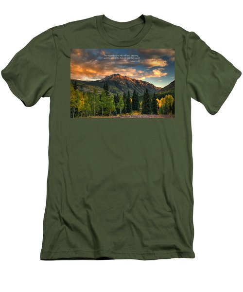 Scripture And Picture Isaiah 55 12 Men's T-Shirt (Athletic Fit)