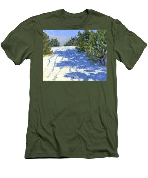 Scrub Oak Shadows Men's T-Shirt (Athletic Fit)
