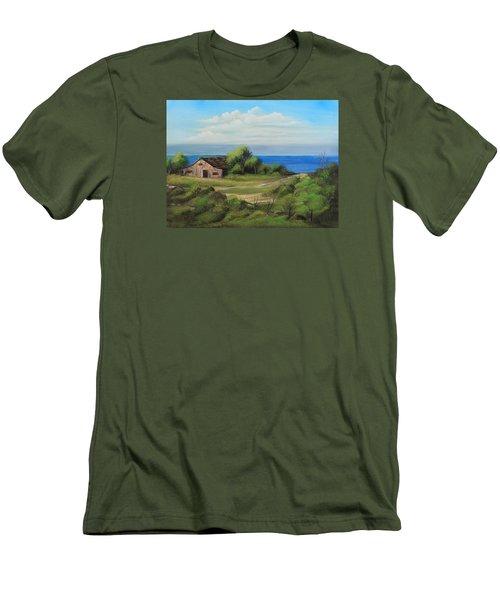 Sea Breeze Men's T-Shirt (Slim Fit) by Remegio Onia