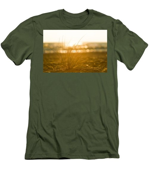 Men's T-Shirt (Athletic Fit) featuring the photograph Sea Oats Sunset by Sebastian Musial