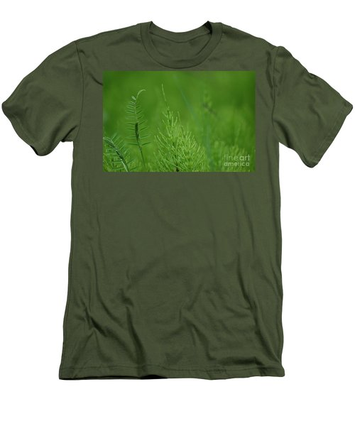 Men's T-Shirt (Slim Fit) featuring the photograph Sea Of Green by Bianca Nadeau