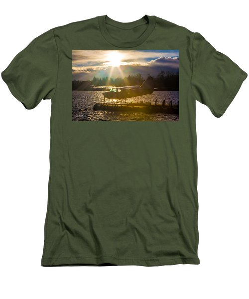 Seaplane Sunset Men's T-Shirt (Athletic Fit)