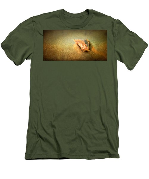 Men's T-Shirt (Athletic Fit) featuring the photograph Seashell by Joye Ardyn Durham
