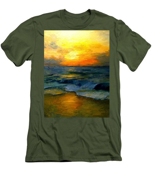 Seaside Sunset Men's T-Shirt (Slim Fit) by Gail Kirtz