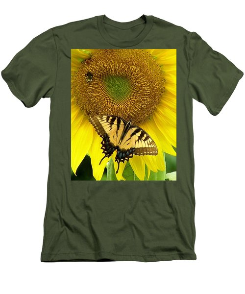 Secret Lives Of Sunflowers Men's T-Shirt (Athletic Fit)