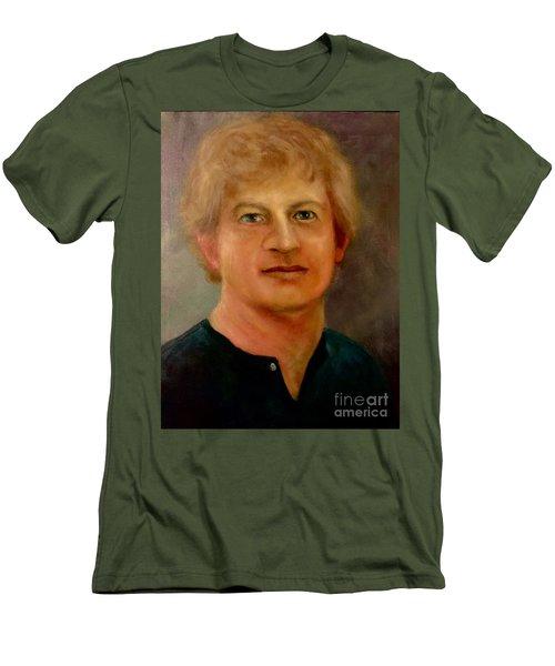 Men's T-Shirt (Slim Fit) featuring the painting Self Portrait by Randol Burns