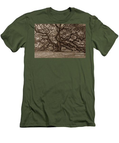Sepia Angel Oak Men's T-Shirt (Athletic Fit)