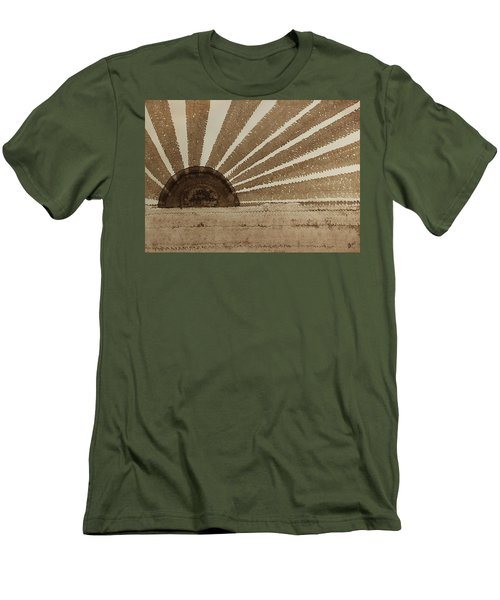 Sepia Sunset Original Painting Men's T-Shirt (Athletic Fit)
