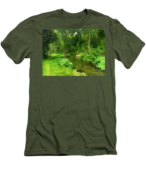 Serene Reflections Men's T-Shirt (Slim Fit) by Becky Lupe