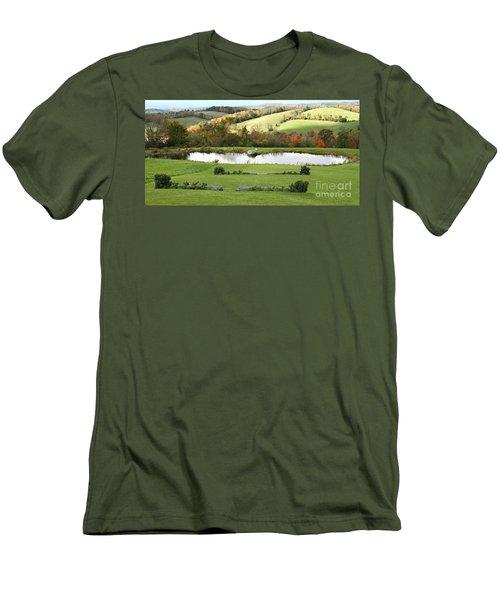 Serenity Hill Men's T-Shirt (Slim Fit) by Carol Lynn Coronios