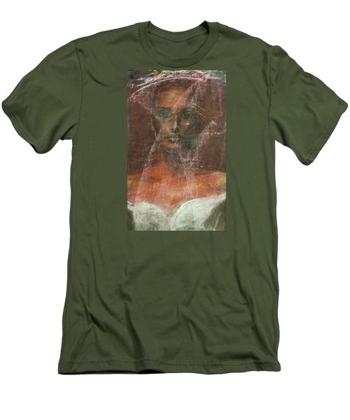 Men's T-Shirt (Slim Fit) featuring the painting Serious Bride Mirage  by Jarmo Korhonen aka Jarko