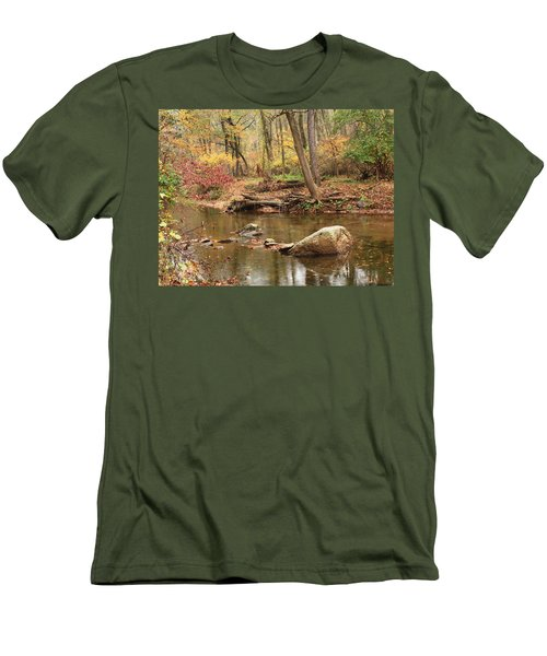 Men's T-Shirt (Slim Fit) featuring the photograph Shades Of Fall In Ridley Park by Patrice Zinck