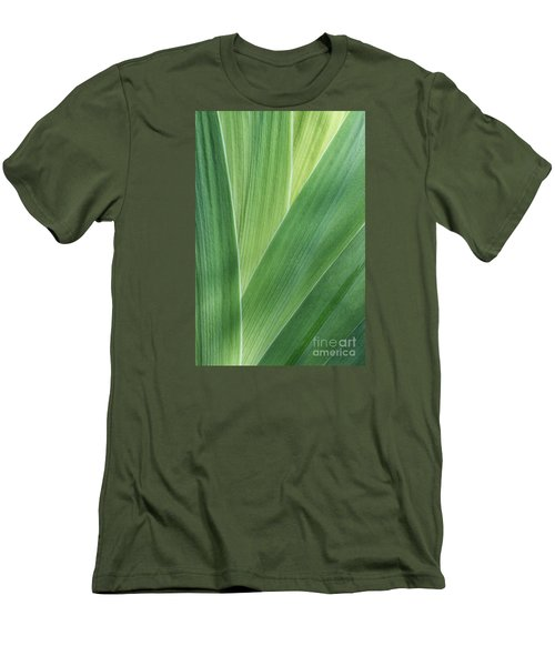Men's T-Shirt (Slim Fit) featuring the photograph Shades Of Green #2 by Judy Whitton