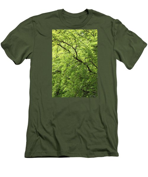 Shades Of Green Men's T-Shirt (Slim Fit) by Amy Gallagher