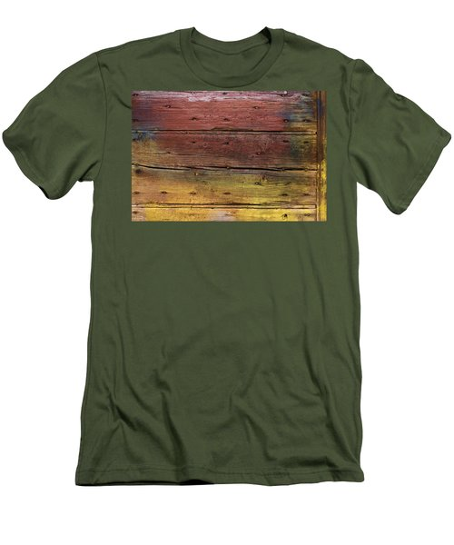 Men's T-Shirt (Slim Fit) featuring the digital art Shades Of Red And Yellow by Ron Harpham