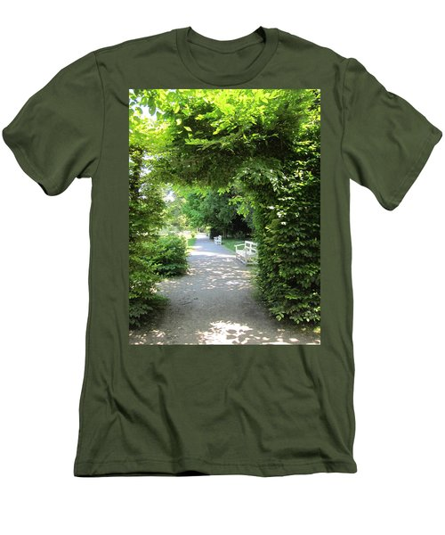 Men's T-Shirt (Slim Fit) featuring the photograph Shady Retreat by Pema Hou