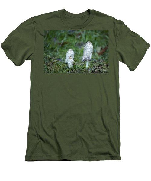 Shaggy Cap Mushroom No. 3 Men's T-Shirt (Slim Fit) by Belinda Greb