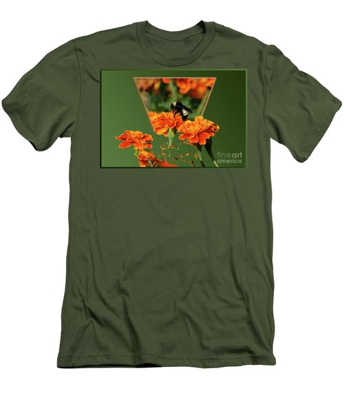 Men's T-Shirt (Slim Fit) featuring the photograph Sharing The Nectar Of Life by Thomas Woolworth