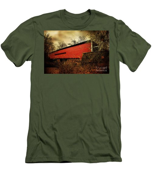 Sheeder Hall Covered Bridge 2 Men's T-Shirt (Athletic Fit)