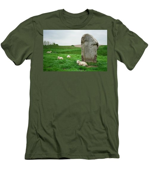 Sheep At Avebury Stones - Original Men's T-Shirt (Athletic Fit)