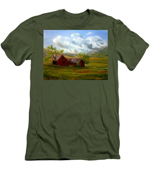 Men's T-Shirt (Slim Fit) featuring the painting Shelter From The Storm by Meaghan Troup