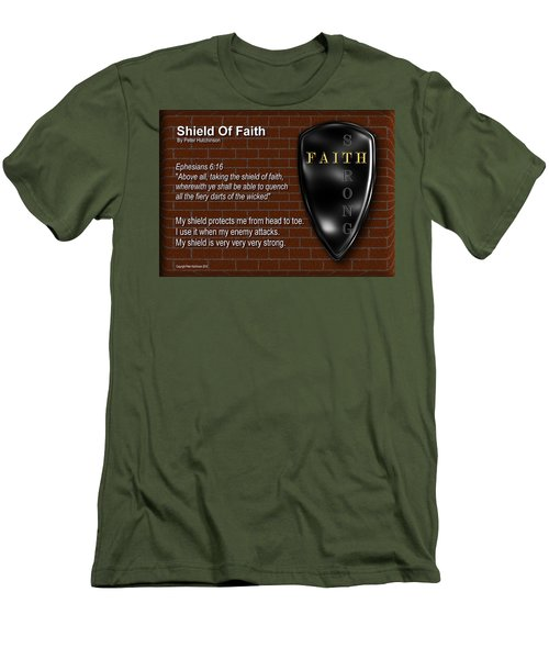 Shield Of Faith Men's T-Shirt (Athletic Fit)