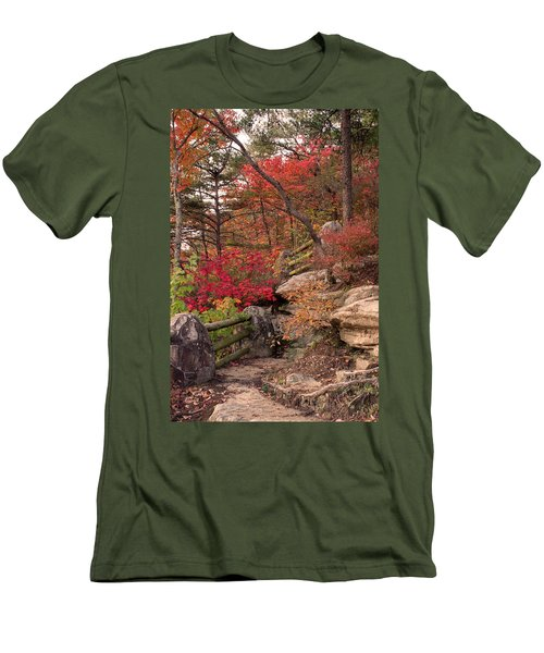 Shifting Colors Men's T-Shirt (Athletic Fit)
