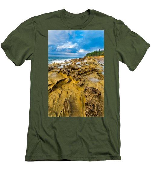 Shore Acres Sandstone Men's T-Shirt (Athletic Fit)
