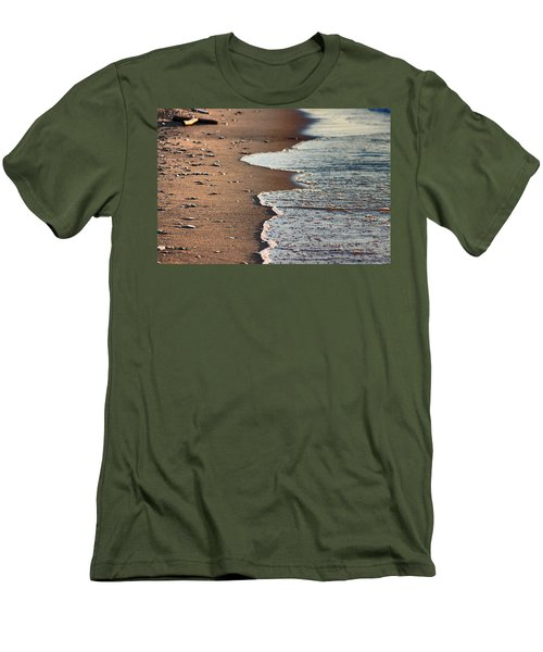 Men's T-Shirt (Slim Fit) featuring the photograph Shore by Bruce Patrick Smith