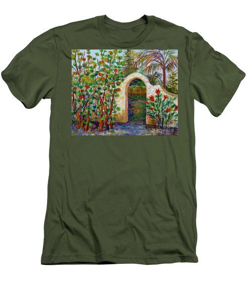 Siesta Key Archway Men's T-Shirt (Slim Fit) by Lou Ann Bagnall