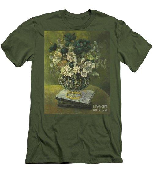 Silk Floral Arrangement Men's T-Shirt (Slim Fit) by Marlene Book