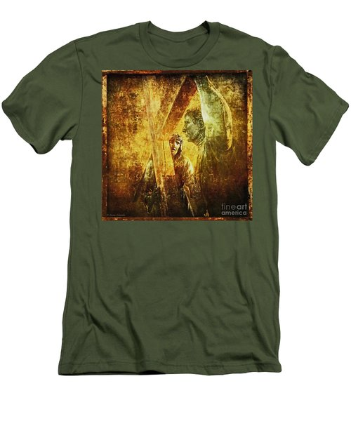 Simon Helps Jesus Via Dolorosa 5 Men's T-Shirt (Athletic Fit)