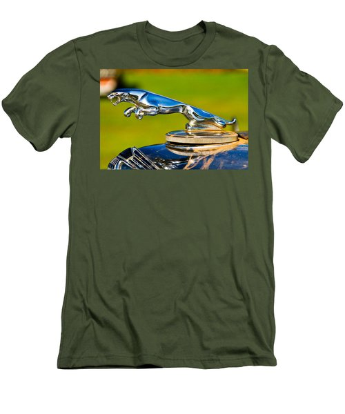 Simply Jaguar-front Emblem Men's T-Shirt (Athletic Fit)
