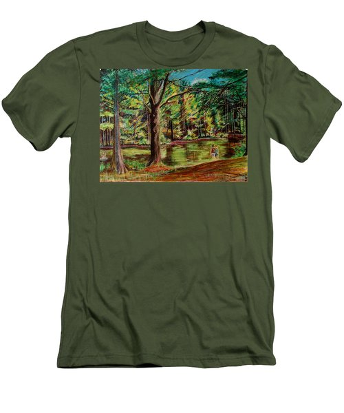 Sisters At Wason Pond Men's T-Shirt (Slim Fit) by Sean Connolly