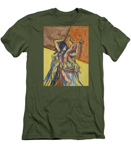 Six Armed Goddess Men's T-Shirt (Athletic Fit)