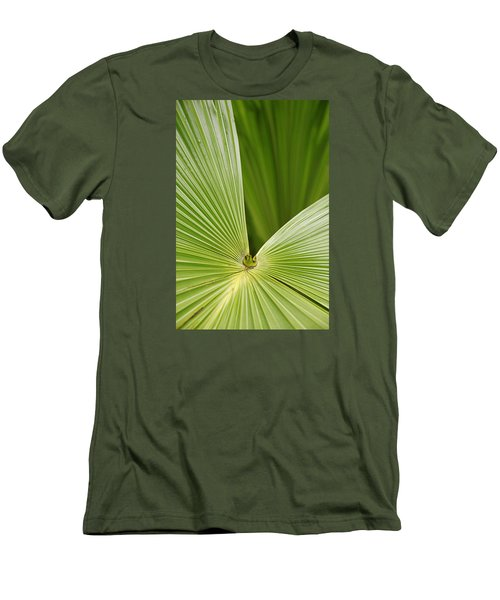 Skc 0691 The Paths Of Palm Meeting At A Point Men's T-Shirt (Slim Fit) by Sunil Kapadia