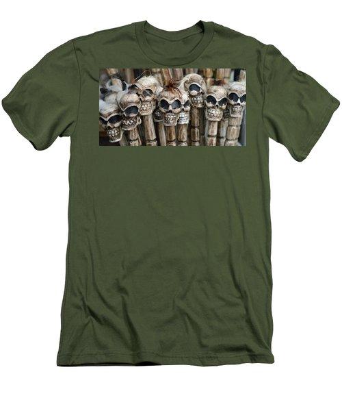 Skull Sticks Men's T-Shirt (Athletic Fit)