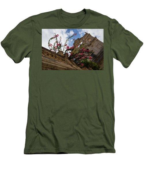 Men's T-Shirt (Slim Fit) featuring the photograph Sky Blossoms by Georgia Mizuleva