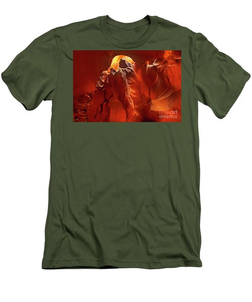 Men's T-Shirt (Slim Fit) featuring the photograph Slot Canyon Formations In Upper Antelope Canyon Arizona by Dave Welling