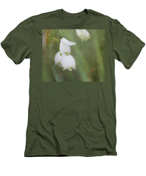 Men's T-Shirt (Slim Fit) featuring the photograph Snowdrops by Katie Wing Vigil