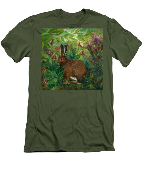 Snowshoe Hare Men's T-Shirt (Slim Fit) by FT McKinstry