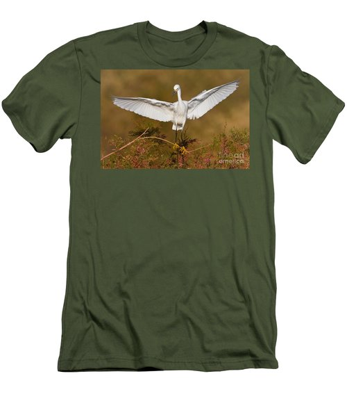 Men's T-Shirt (Slim Fit) featuring the photograph Snowy Wingspread by Bryan Keil